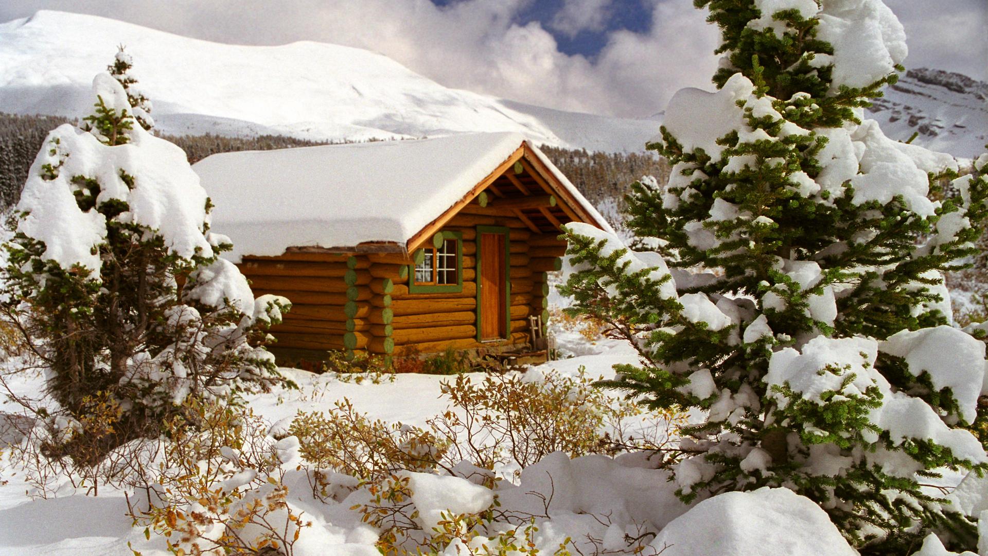 3d log cabin wallpaper wallpapersafari for Log cabin montagne blu