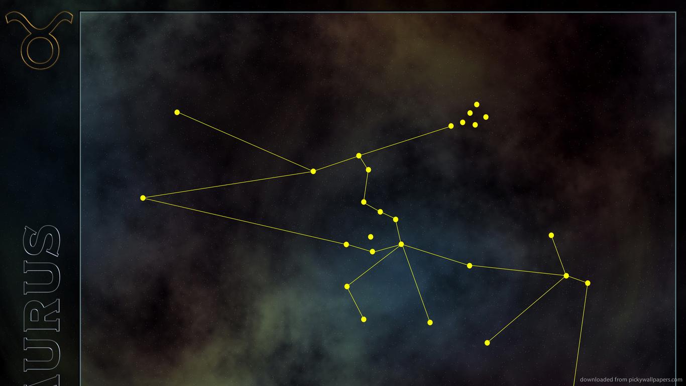 Download 1366x768 Taurus Constellation Wallpaper 1366x768