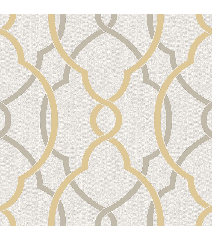 WallPops NuWallpaper TaupeYellow Sausalito Peel Stick Wallpaper 1200x1360