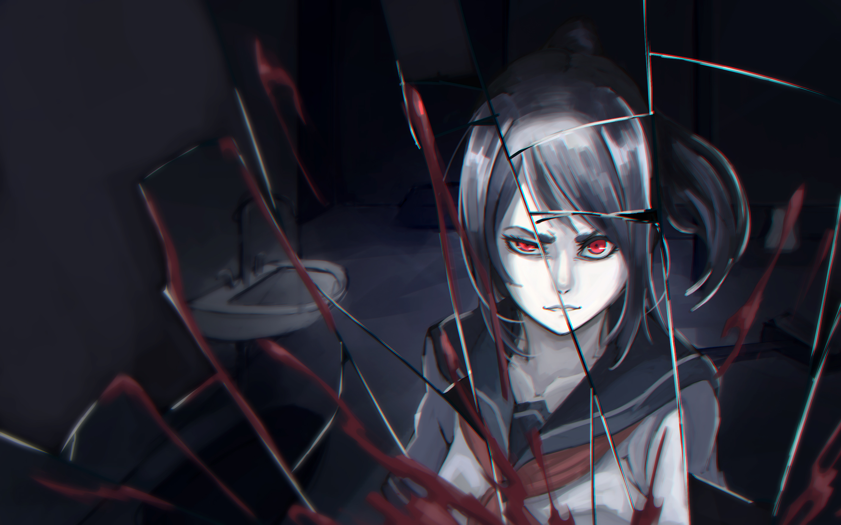 Anime Yandere Wallpaper Hd 2829x1768