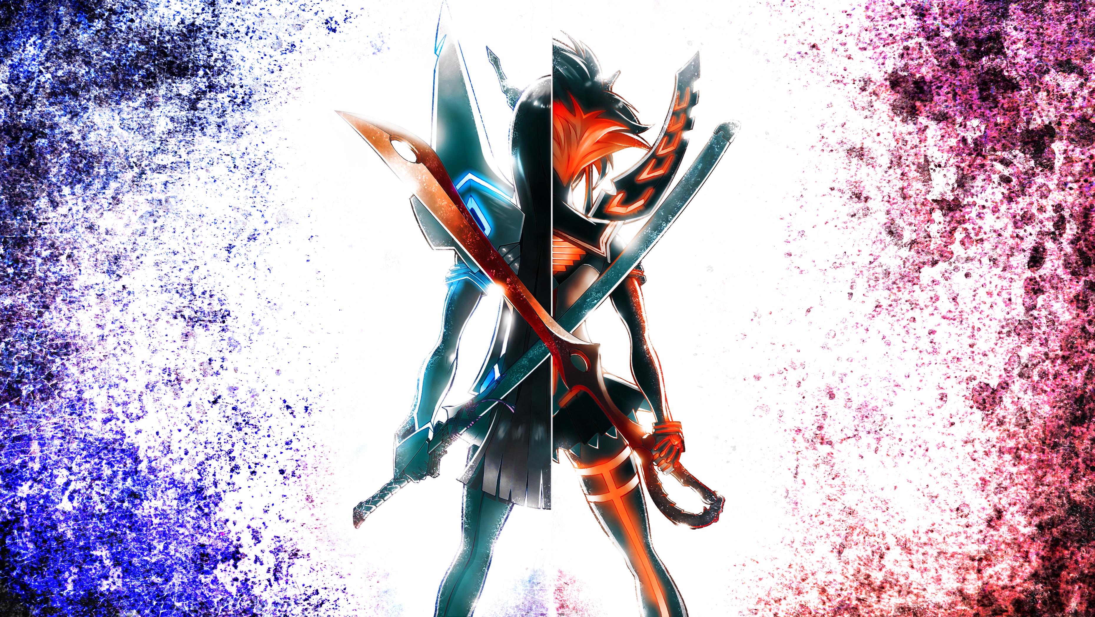 Kill La Kill Satsuki x Ryuuko UHD 4K by MajinTatsujin 3720x2097