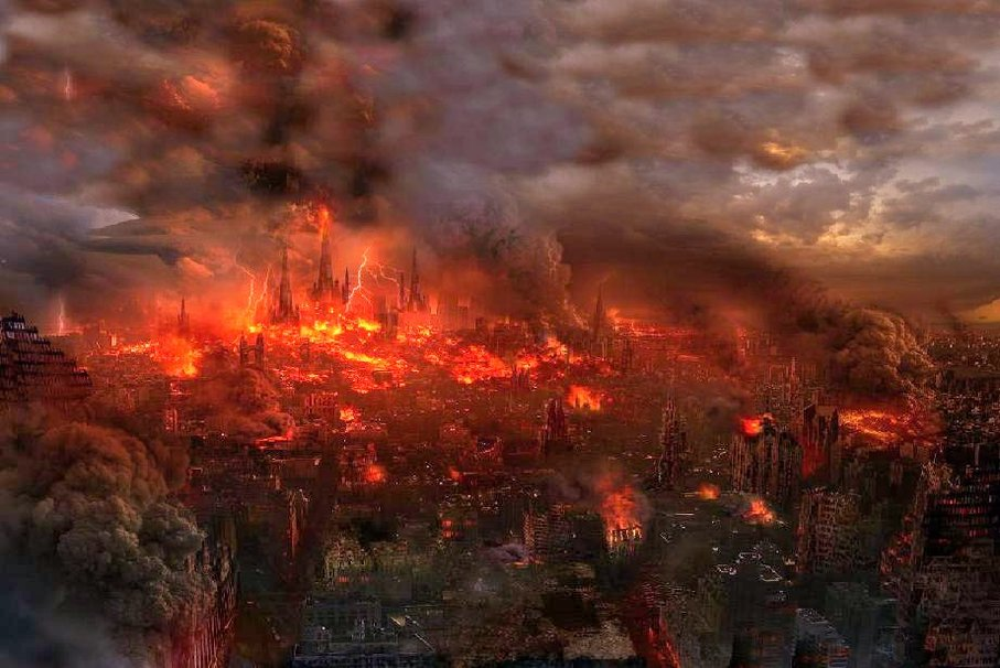 fire apocalypse background - photo #15