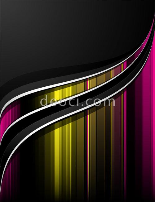 Templates Vector Album Black brilliant album cover background 500x648