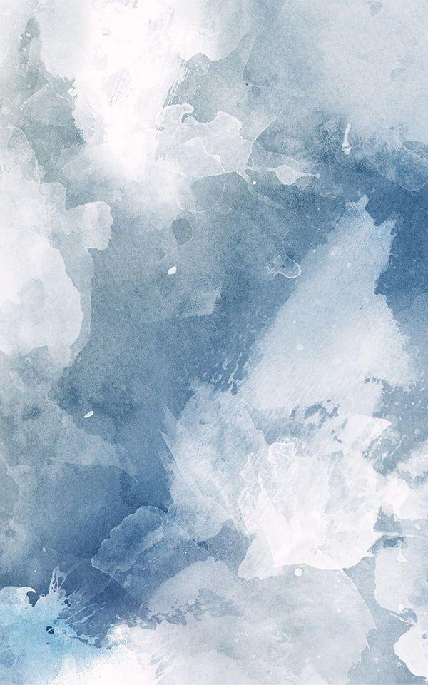 Blue and White Watercolour Paint Wallpaper MuralsWallpaper 600x960