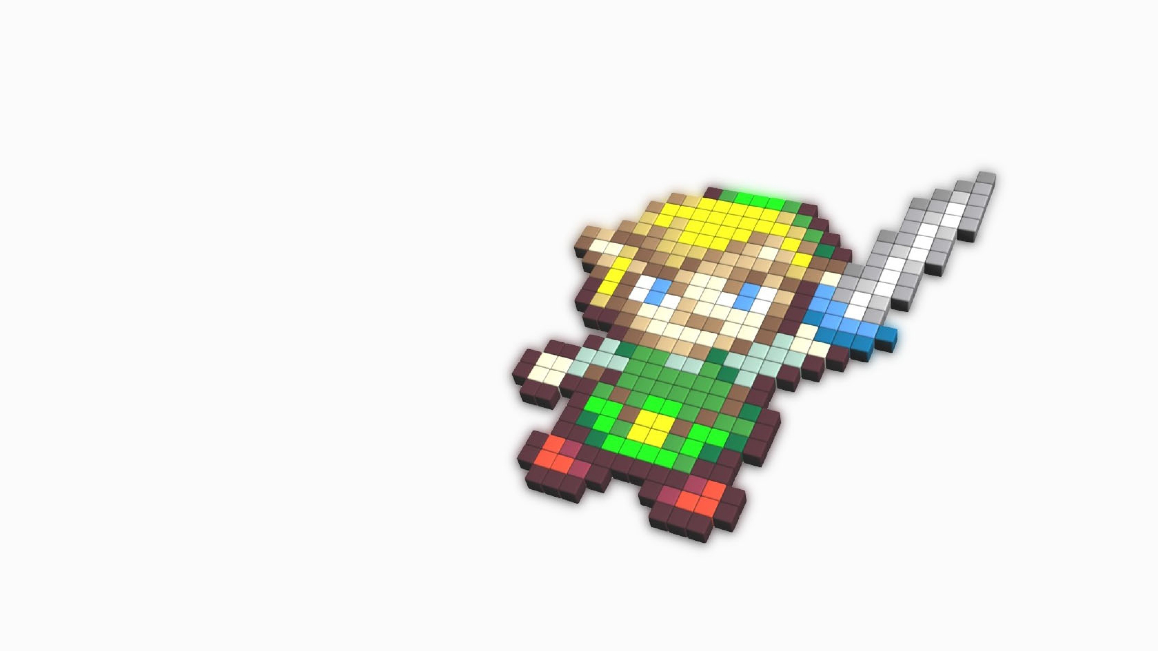 zelda Character White Cubes Link Wallpaper Background 4K Ultra HD 3840x2160
