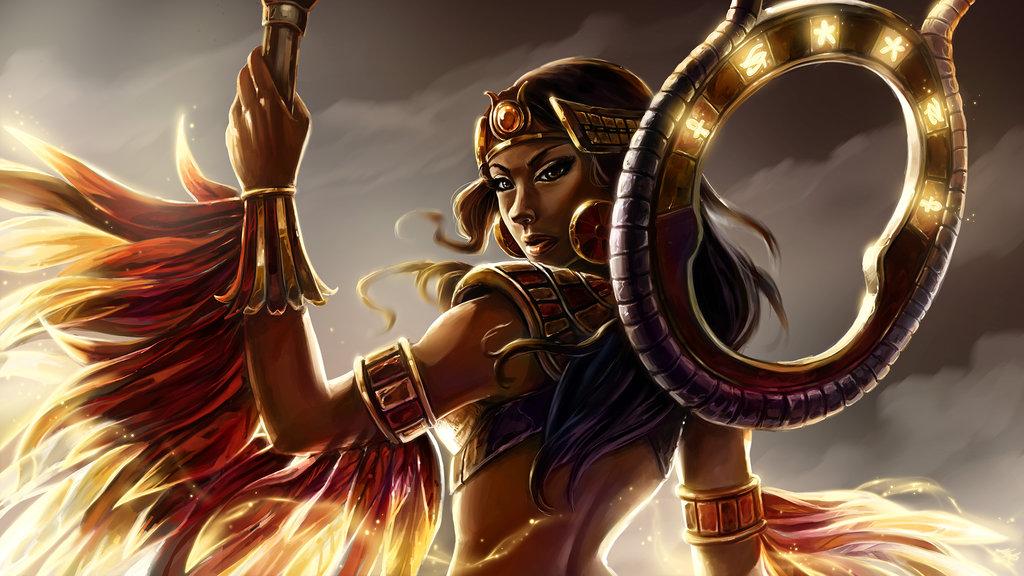 Isis    Smite by KalaSketch 1024x576