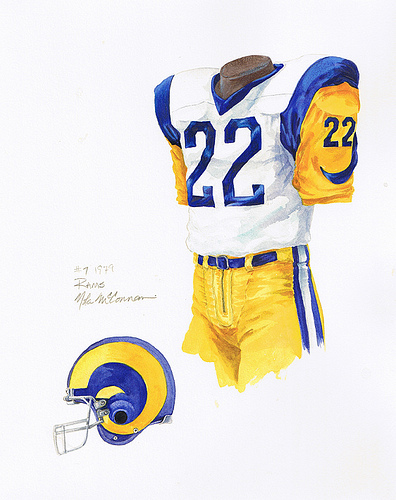 Los Angeles Rams Uniforms for Pinterest 396x500