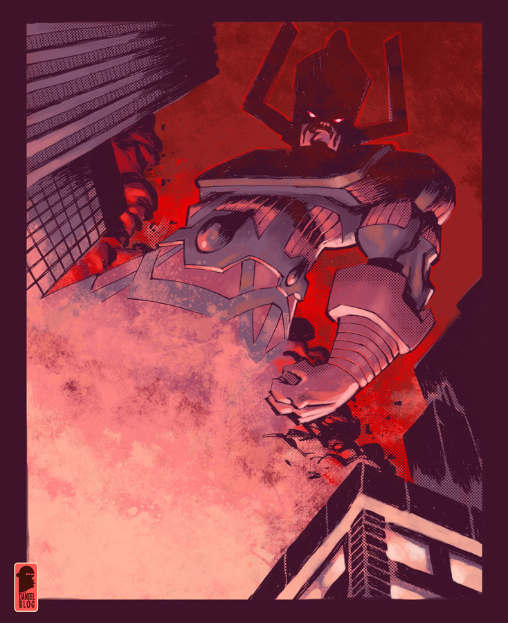 Galactus and Silver Surfer 734x900