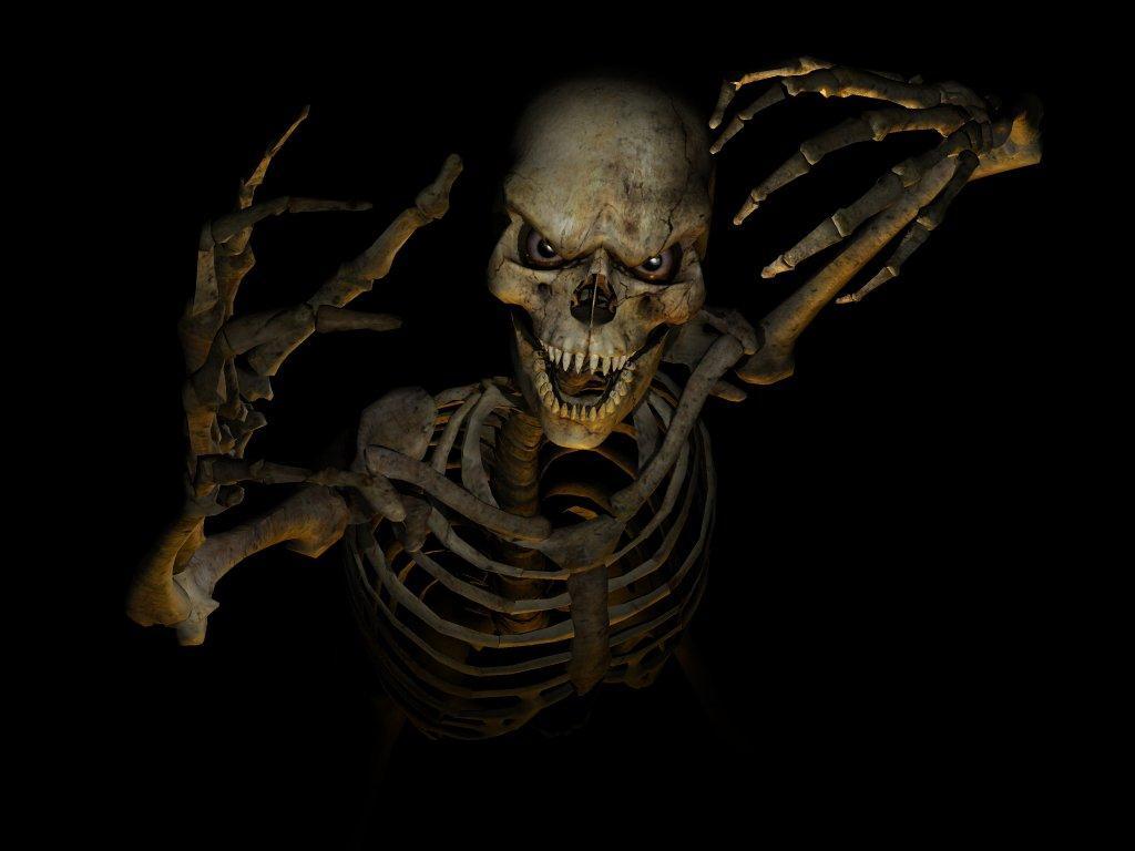 Art Dark Skull Wallpaper Desktop 3719 1024x768