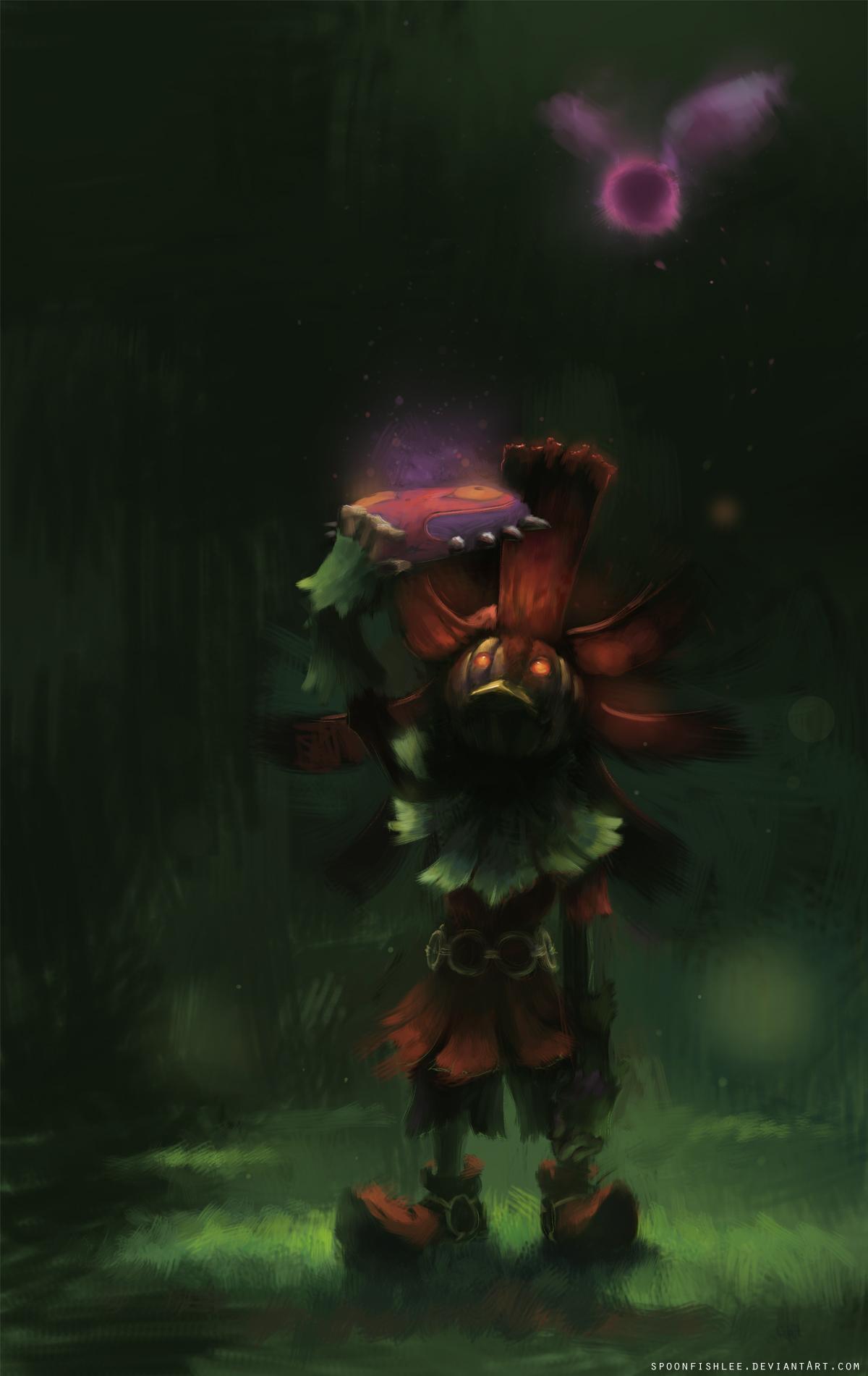 Zelda Majoras Mask Wallpaper Skull Kid Skull kid majo 1200x1901
