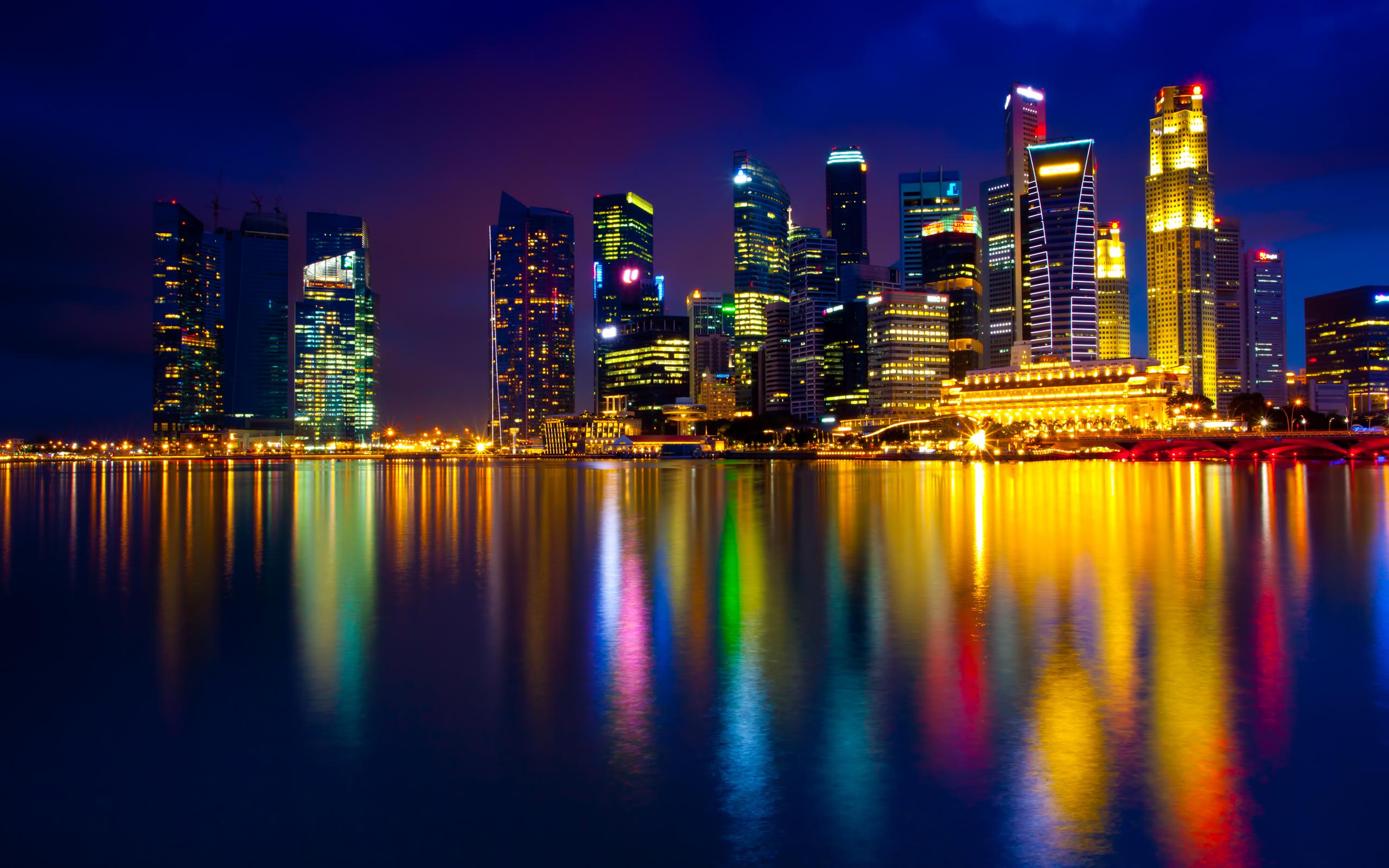 CITY AT NIGHT WALLPAPER   76590   HD Wallpapers   [wallpapersinhq 2560x1600