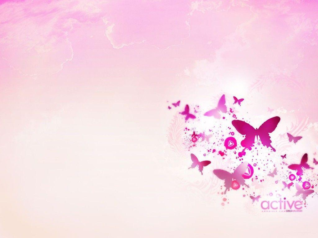Pink Butterfly Backgrounds 1024x768