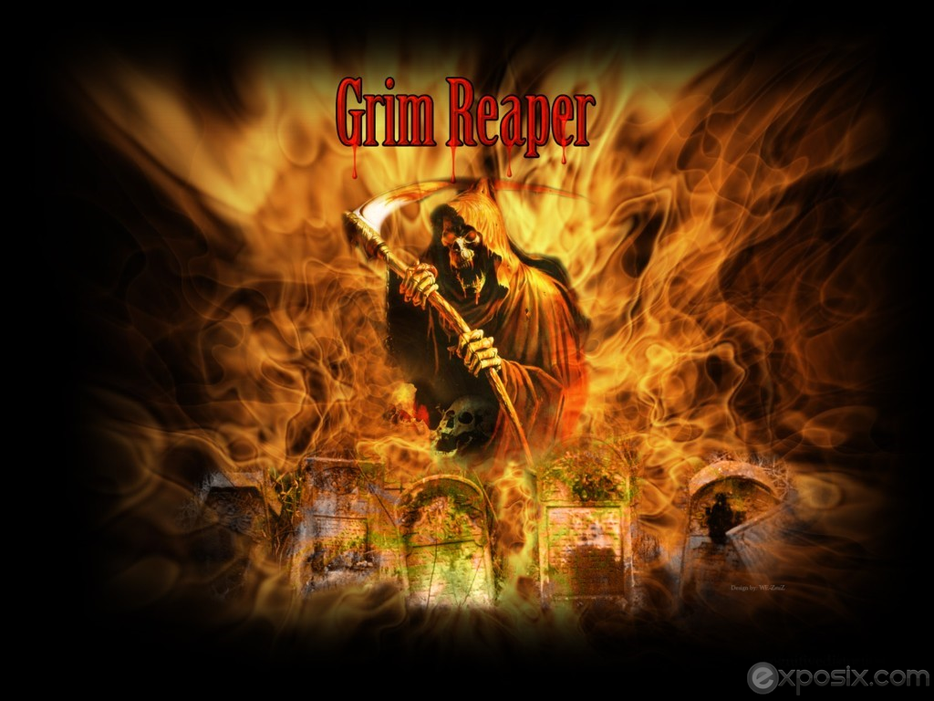 wallpaper yvt hell red grim reaper grim reaper skeleton skull iphone 1024x768