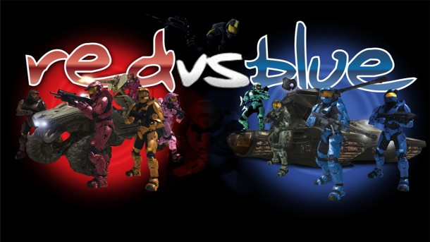 Rooster Teeth A custom made RvB Wallpaper 610x343