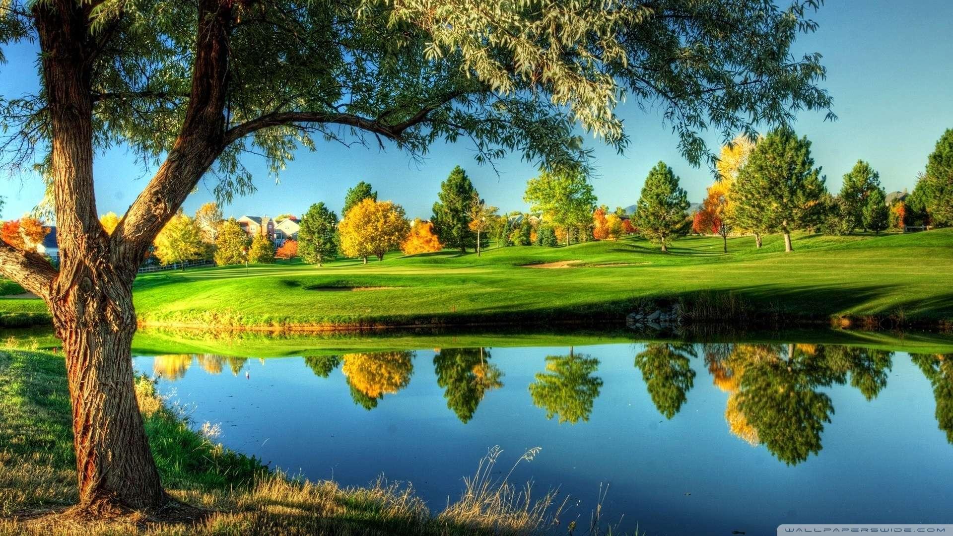 Hd wallpaper landscape - Wallpaper Golf Course Landscape Wallpaper 1080p Hd Upload At