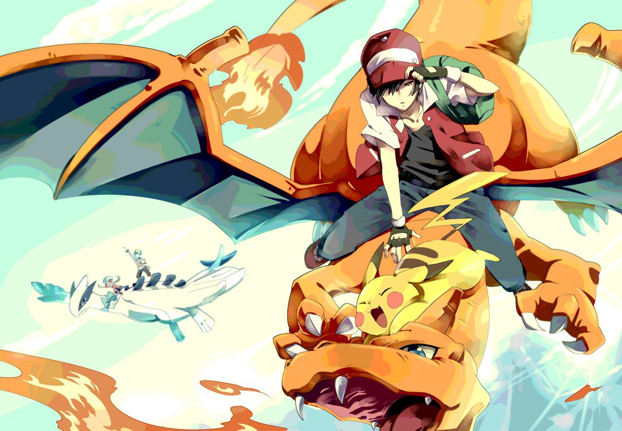 Free Download Pokemon Trainer Red Wallpaper Sf Wallpaper 1280x887