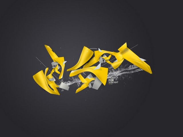 resolution Yellow mess wallpaper in 3DAbstract desktop wallpapers 640x480
