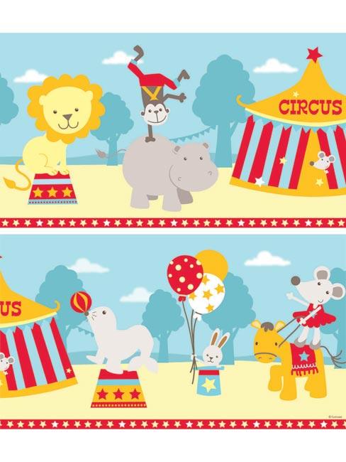 Nursery Dandeacutecor Circus 6 Wallpaper Border Self Adhesive 488x650