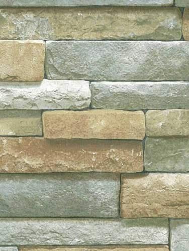 3D stacked stone wallpaper diy decoratingdecorhome etc Pintere 376x500