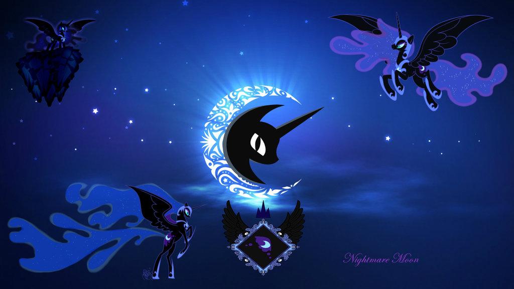 Nightmare Moon Wallpaper by EvilPrincessCadence 1024x576
