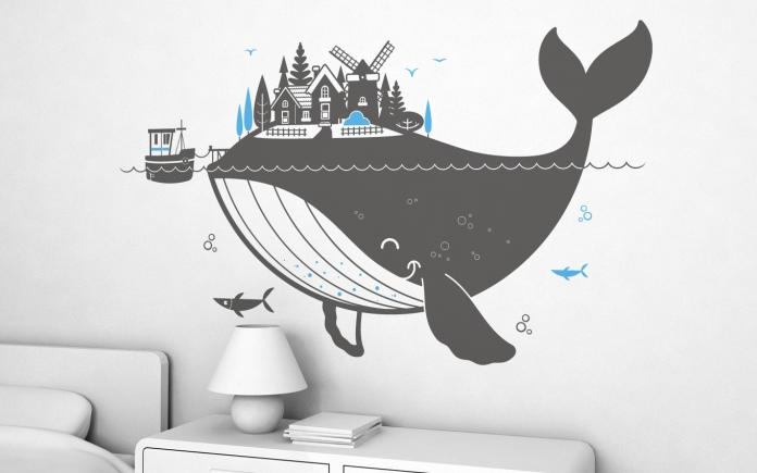 Whale Wallpaper Nursery Whale Island Xl Wall Decal Part 48