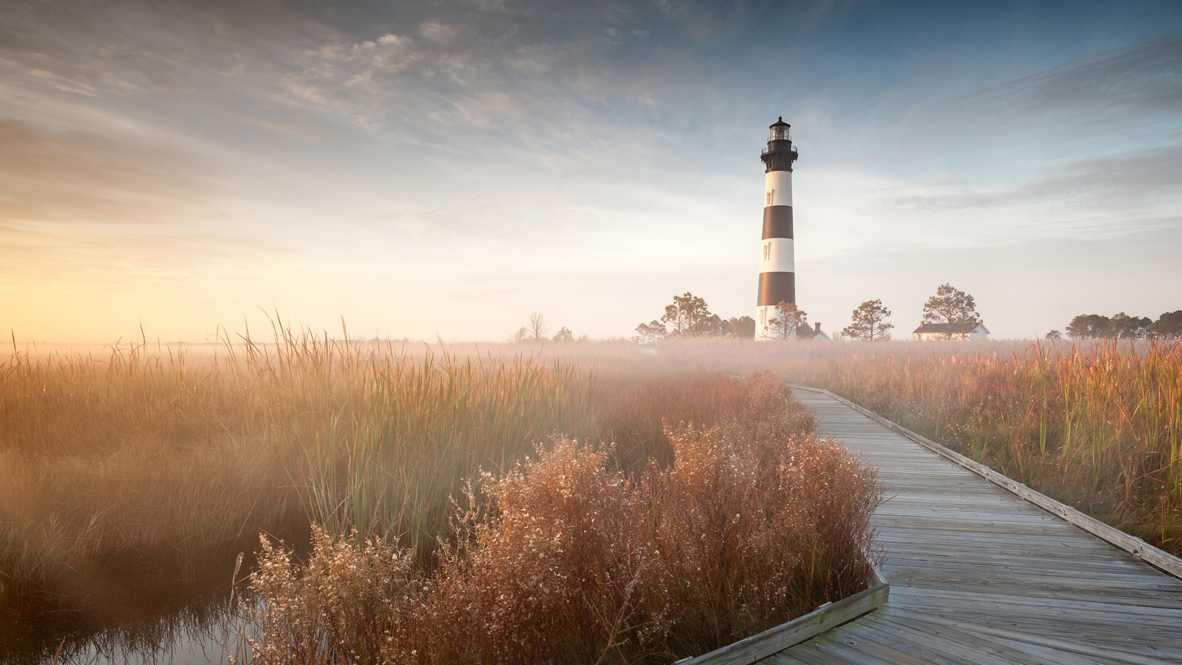 Image USA Bodie Island North Carolina Nature Lighthouses 3840x2160 3840x2160