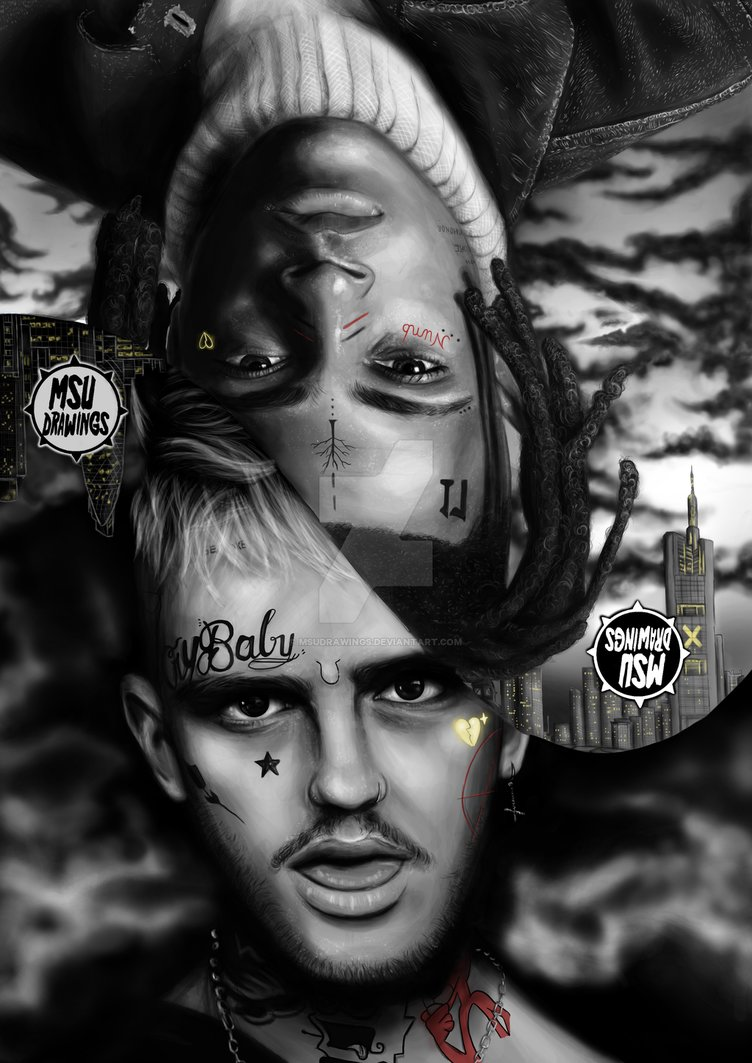 The Lil Peep n XXXTentacion Drawing   MSUdrawings by MSUdrawings 752x1063