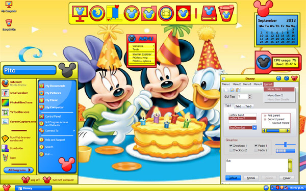 Disney   Desktop Themes Windows 8 Themes Windows 7 Themes 600x375