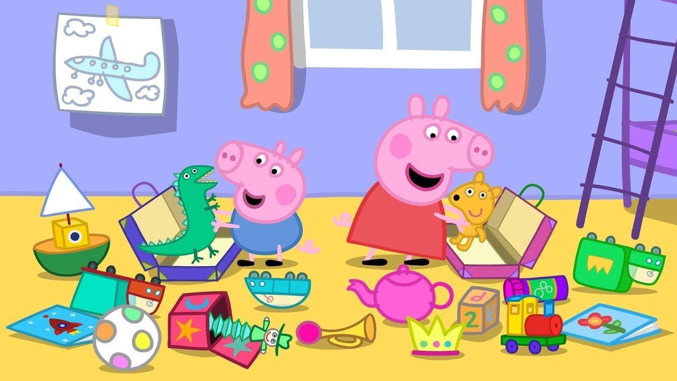 Disney HD Wallpapers Peppa Pig Cartoon HD Backgrounds 1344x756