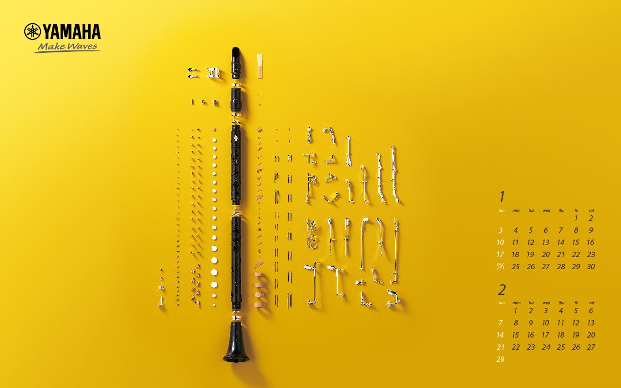 Calendar and Wallpaper   Yamaha Corporation 1280x800
