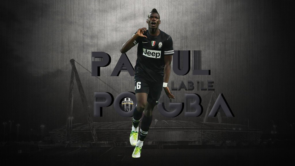 Paul Pogba Football Wallpaper 1024x576