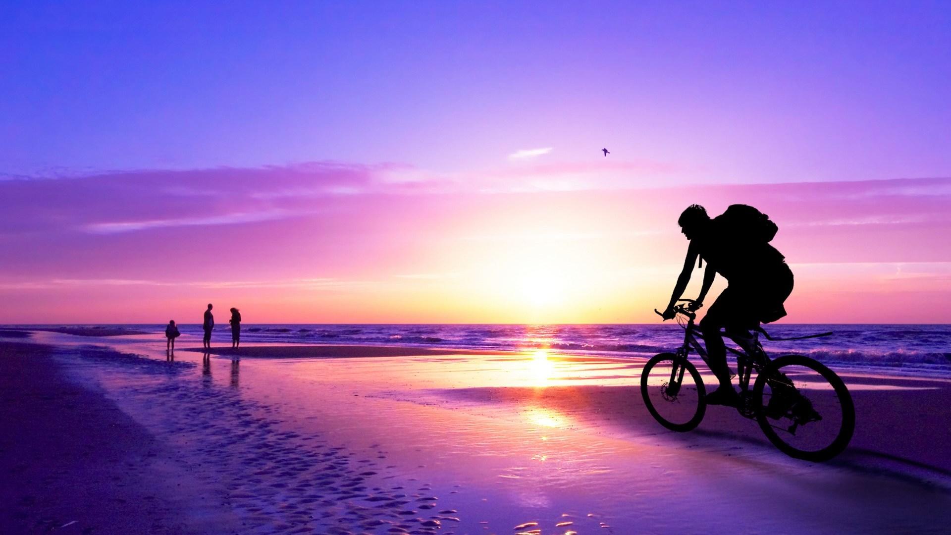 Tropical Beach Sunset Wallpaper 1080p 1920x1080