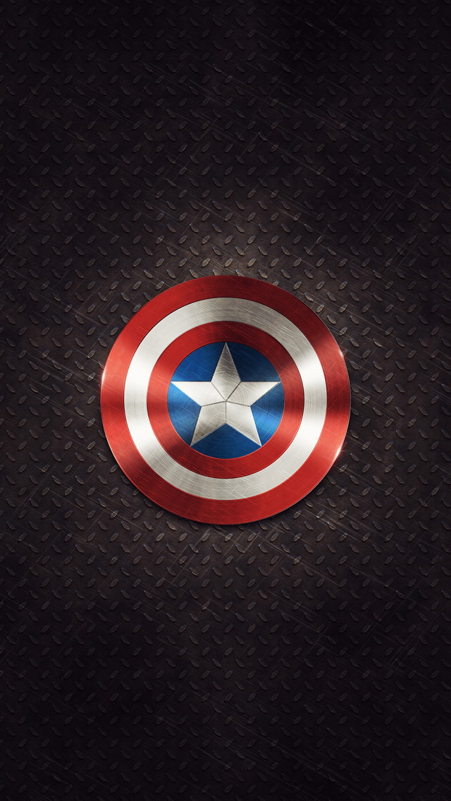 Captains Shield iphone 5s wallpaper   Best iPhone 5s wallpapers 640x1136
