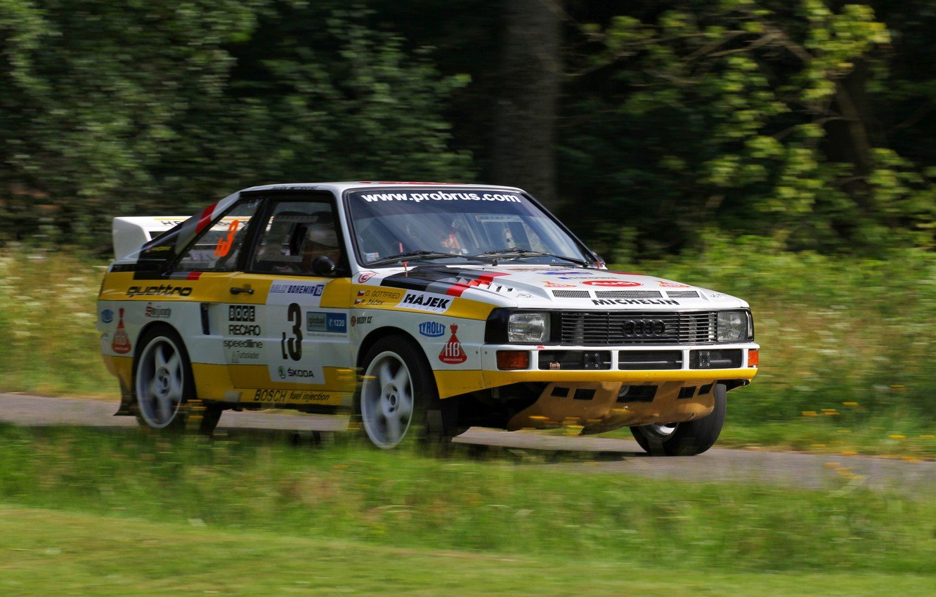 Wallpaper road Audi rally Quattro 1984 group B Sport Four 1332x850