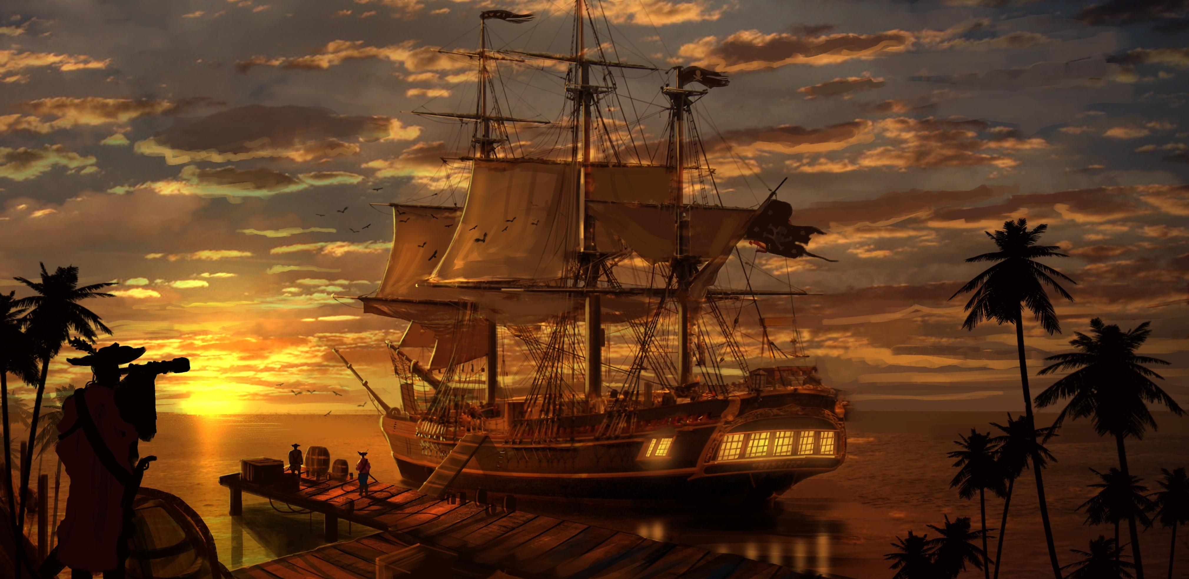 311 Ship HD Wallpapers Background Images 4040x1970