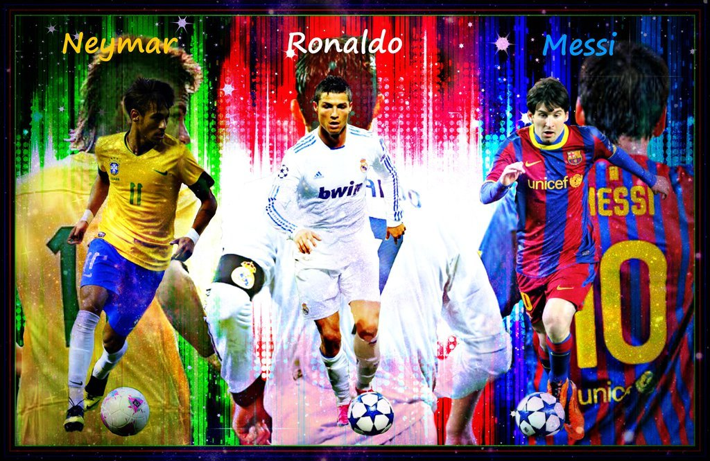 Image result for ronaldo messi neymar wallpaper