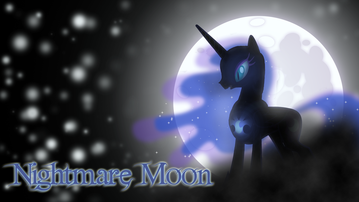 Nightmare Moon Wallpaper by mindlessrowley 1191x670