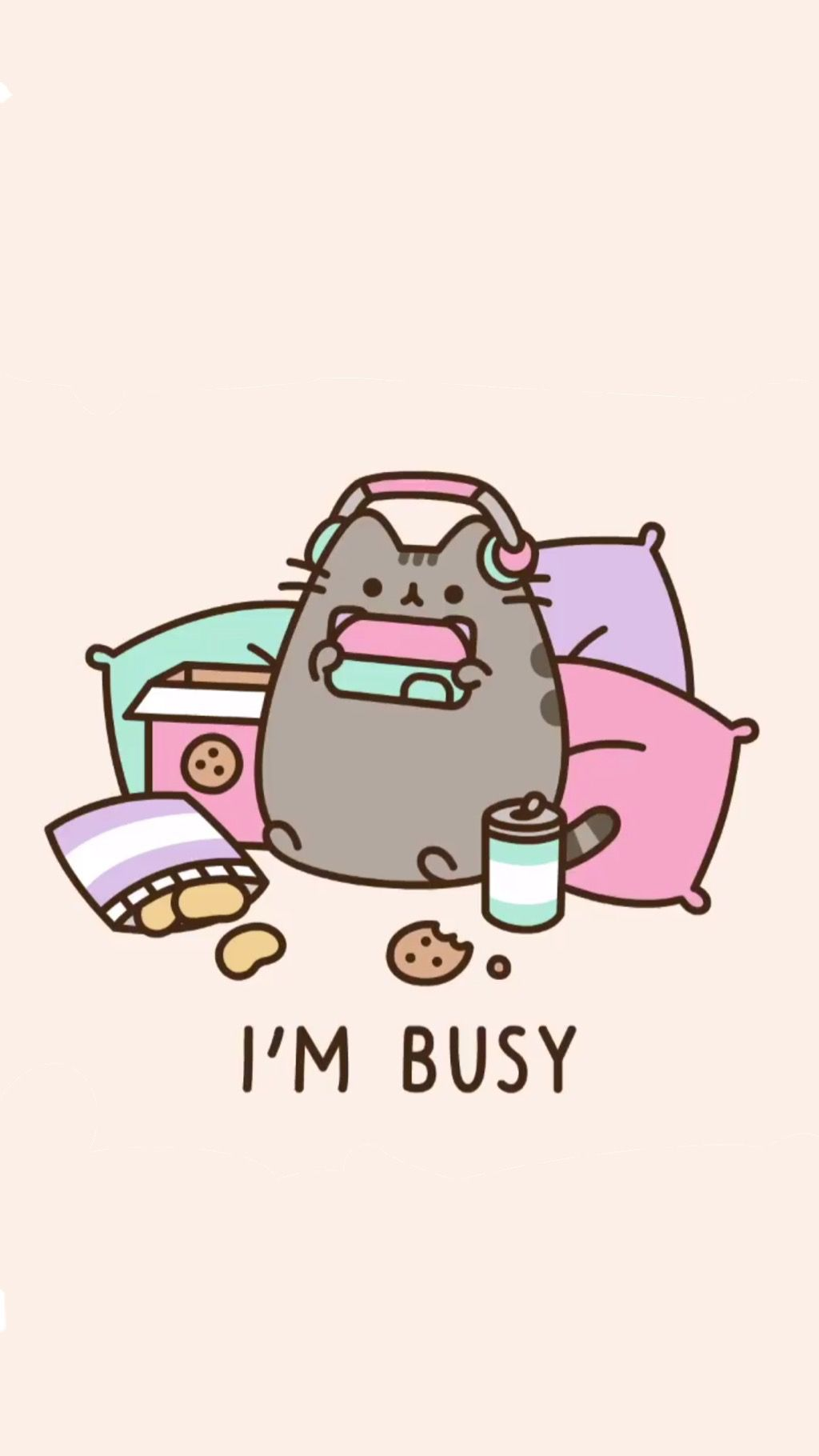 Pin by Aysan on art With images Pusheen cute Cute wallpapers 1024x1820