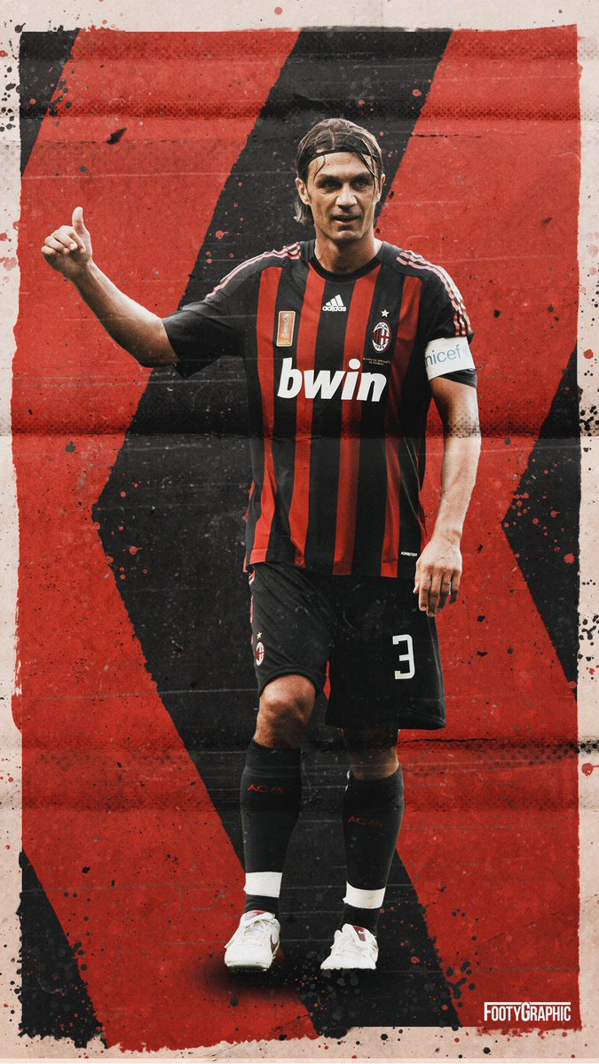 Joeri   FootyGraphic on Twitter Maldini phone wallpaper Paolo 675x1200