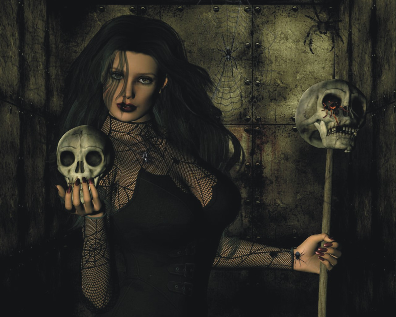 Evil Witch Wallpaper 1280x1024