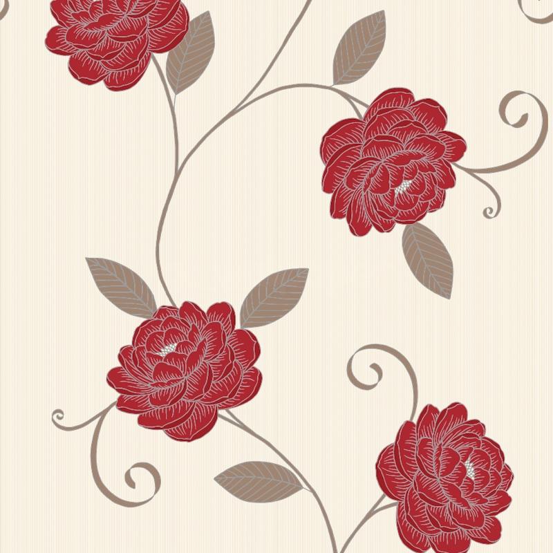 Red And Cream Wallpaper Wallpapersafari