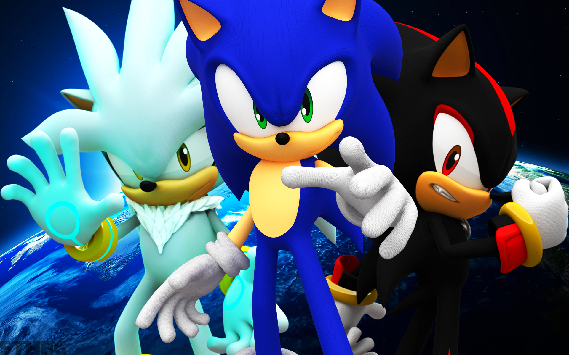 Free download Sonic Shadow And Silver wallpaper 1233424