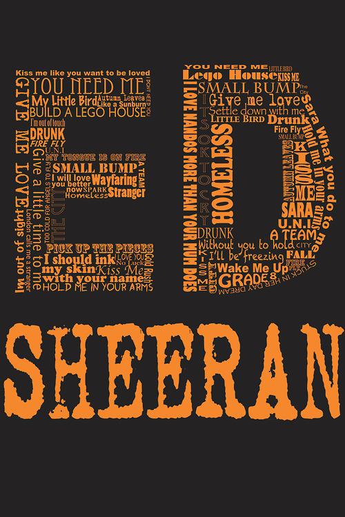 Ed Sheeran Lyrics Wallpaper WallpaperSafari