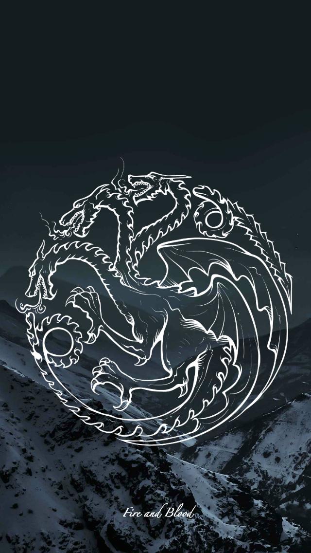 Game of Thrones   wallpaper   sigil   Targaryen by EmmiMania 640x1136