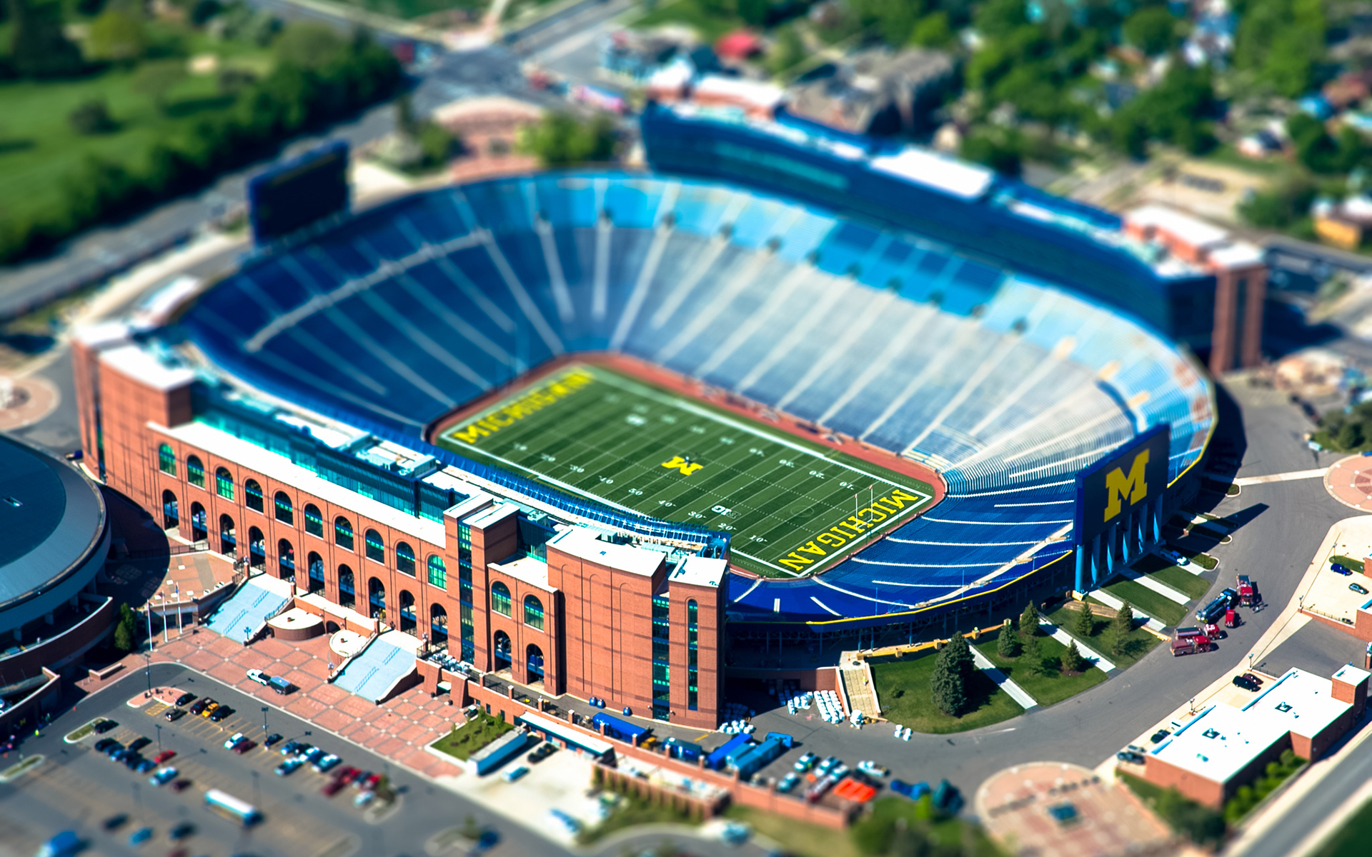 Michigan State University Stadium Tilt Shift Football wallpaper 1920x1200