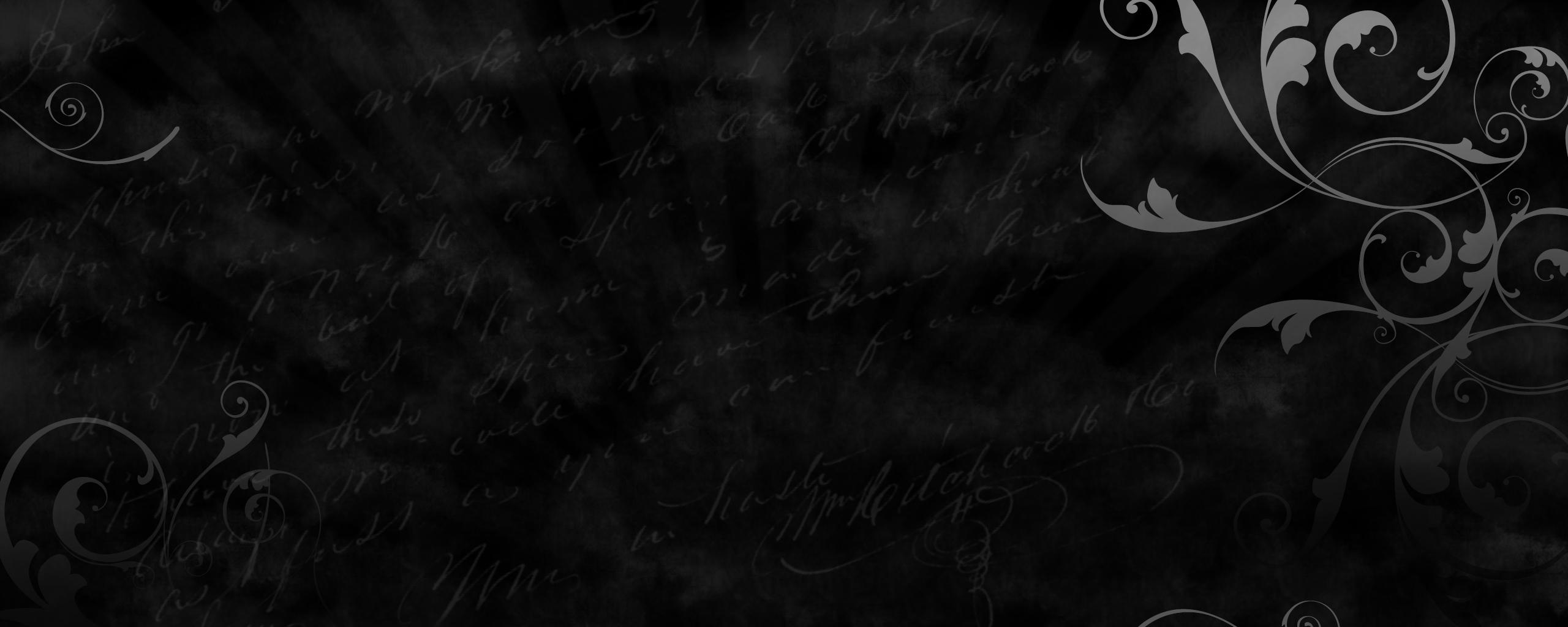 black wallpapers 1 2560x1024