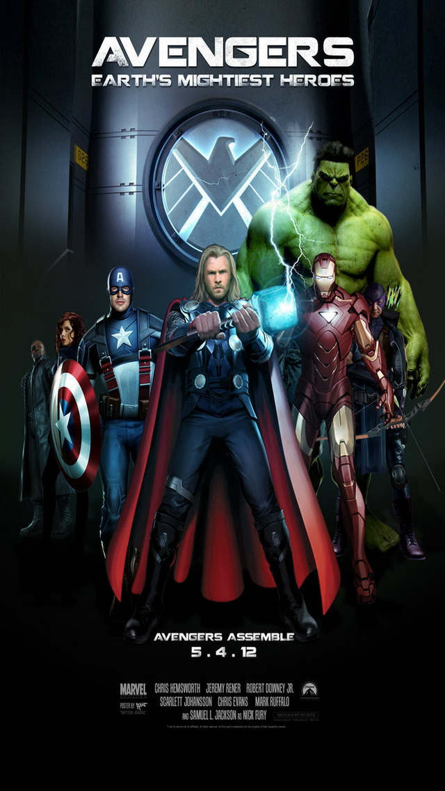 The Avengers iPhone 5 Wallpapers 6401136 4 Wallpapers Photo 640x1136