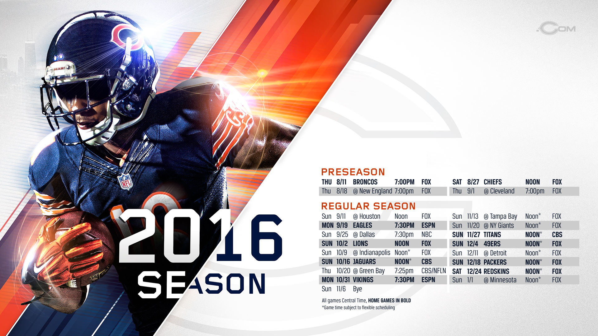 Chicago Bears 2016 Wallpapers 1920x1080
