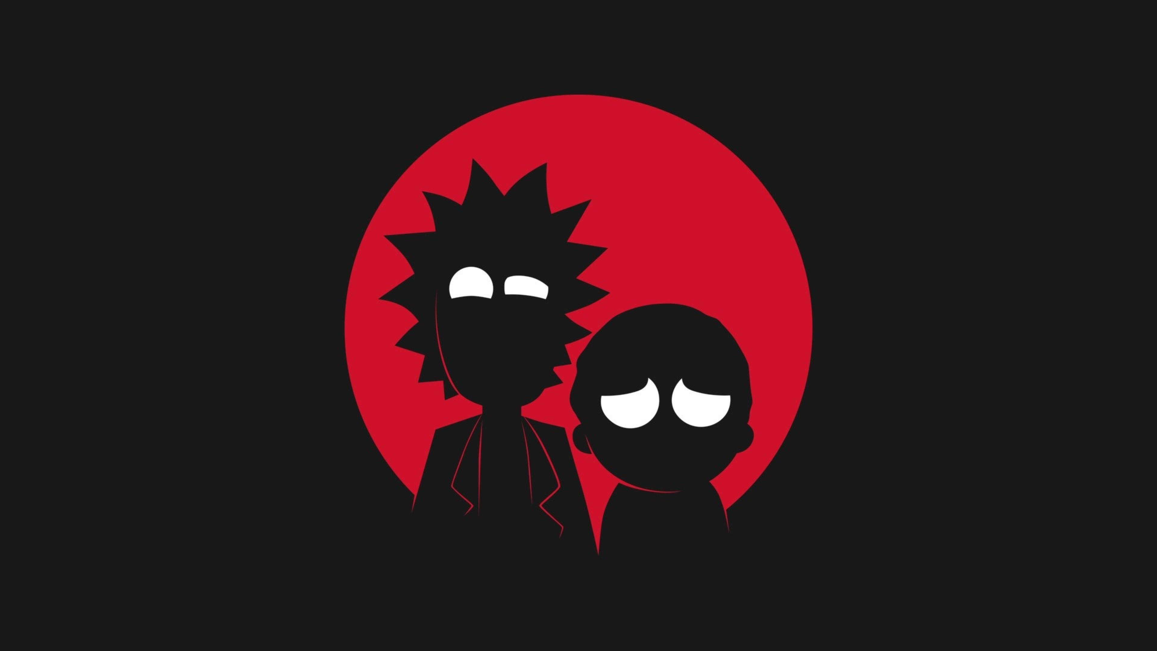 3840x2160 Rick and Morty Dark Minimalistic 4K Wallpaper HD 3840x2160