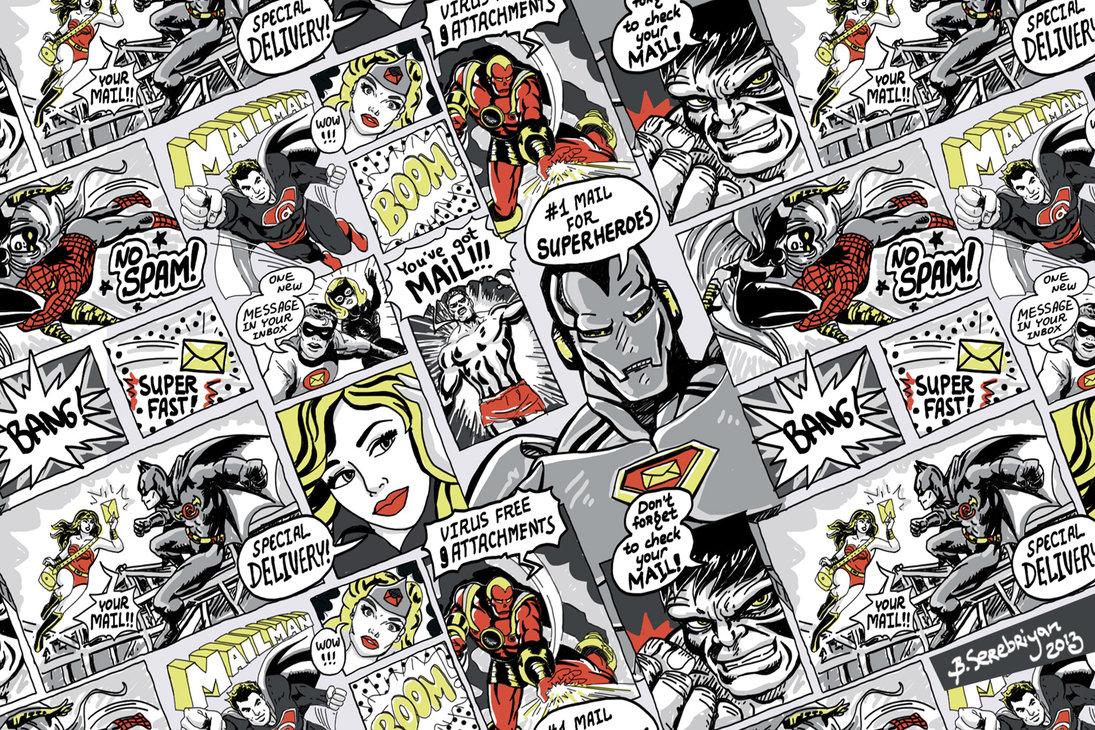 Retro Comics Pattern by bogdana serebriyan 1095x730